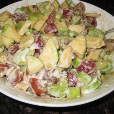 Goat Cheese and Squash Fettuccine…and Waldorf Salad