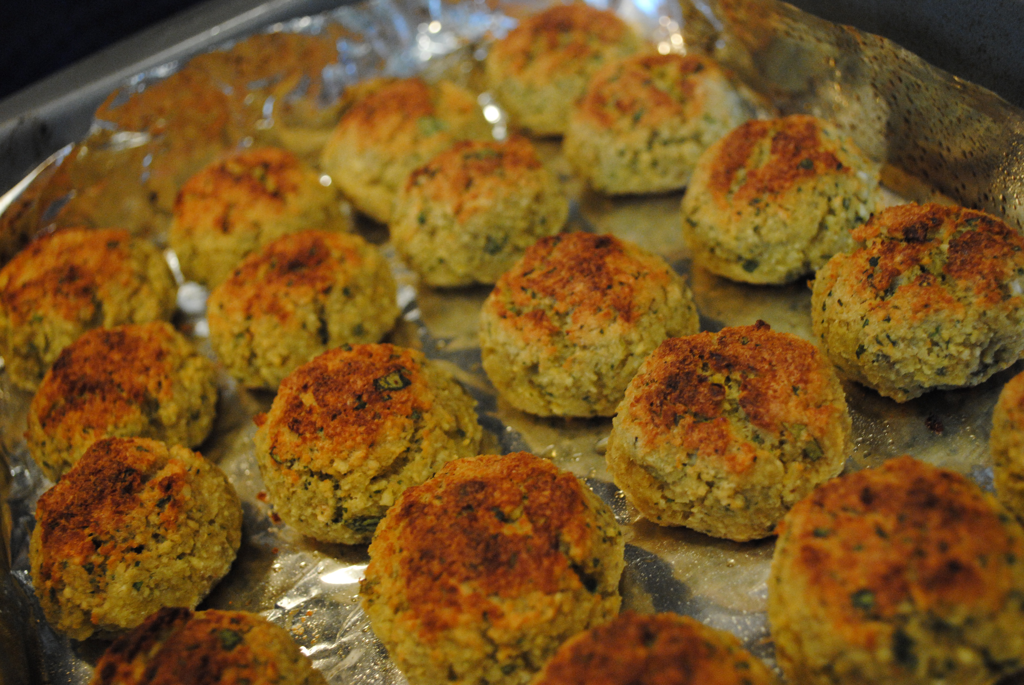 baked falafel patties with yogurt tahini sauce falafel falafel falafel ...