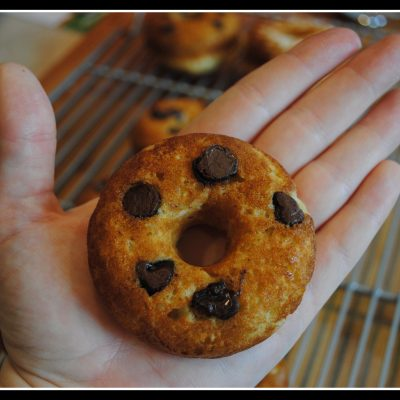 """""""Healthy"""" Baked (Chocolate Chip) Donuts"""