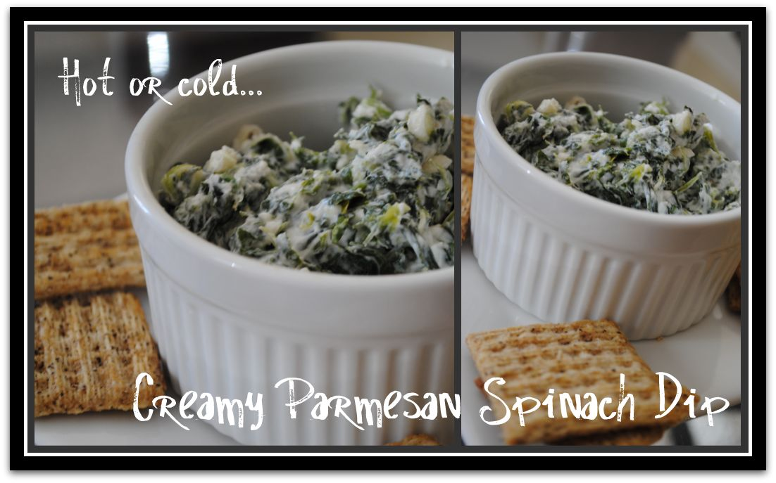 Creamy Parmesan Spinach Dip from Gina's Weight Watcher Recipes