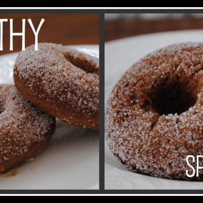 Baked Sugared Gingerbread Doughnuts