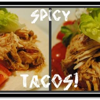 Crock Pot Chicken Tacos + Homemade Taco Seasoning