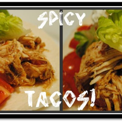 Crock Pot Chicken Tacos + Homemade Taco Seasoning