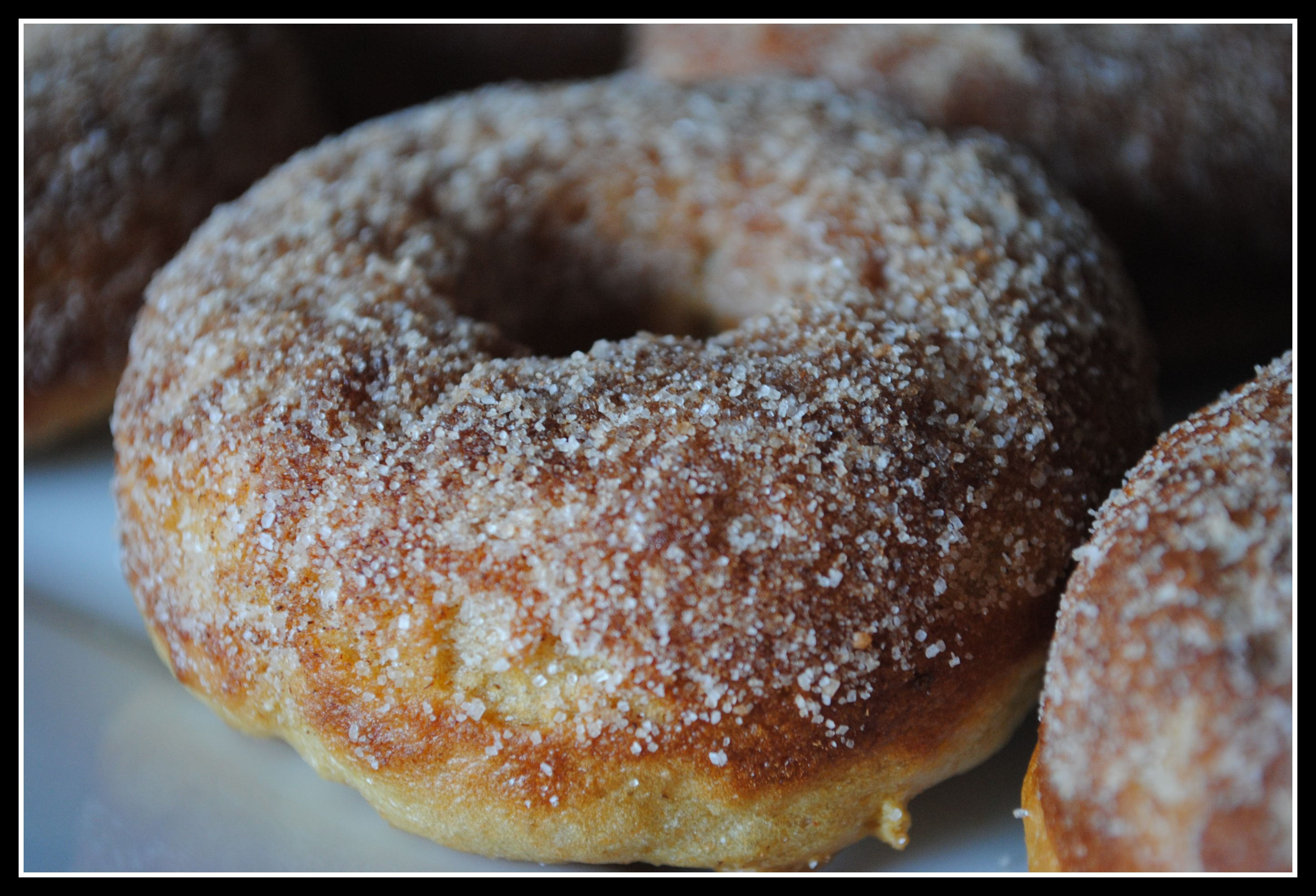 Maple Cinnamon-Sugar Baked Doughnuts