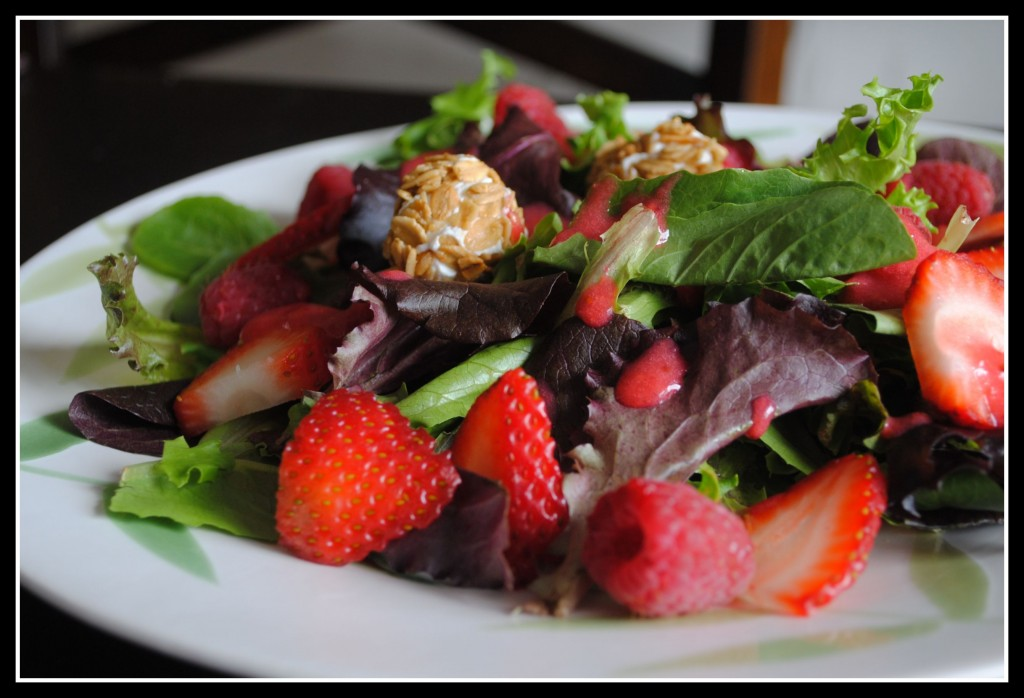 Red Berry Salad with Granola-Crusted Goat Cheese from Healthy Food for ...