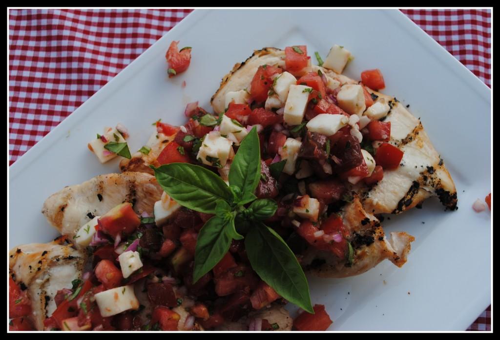 Grilled Chicken Bruschetta