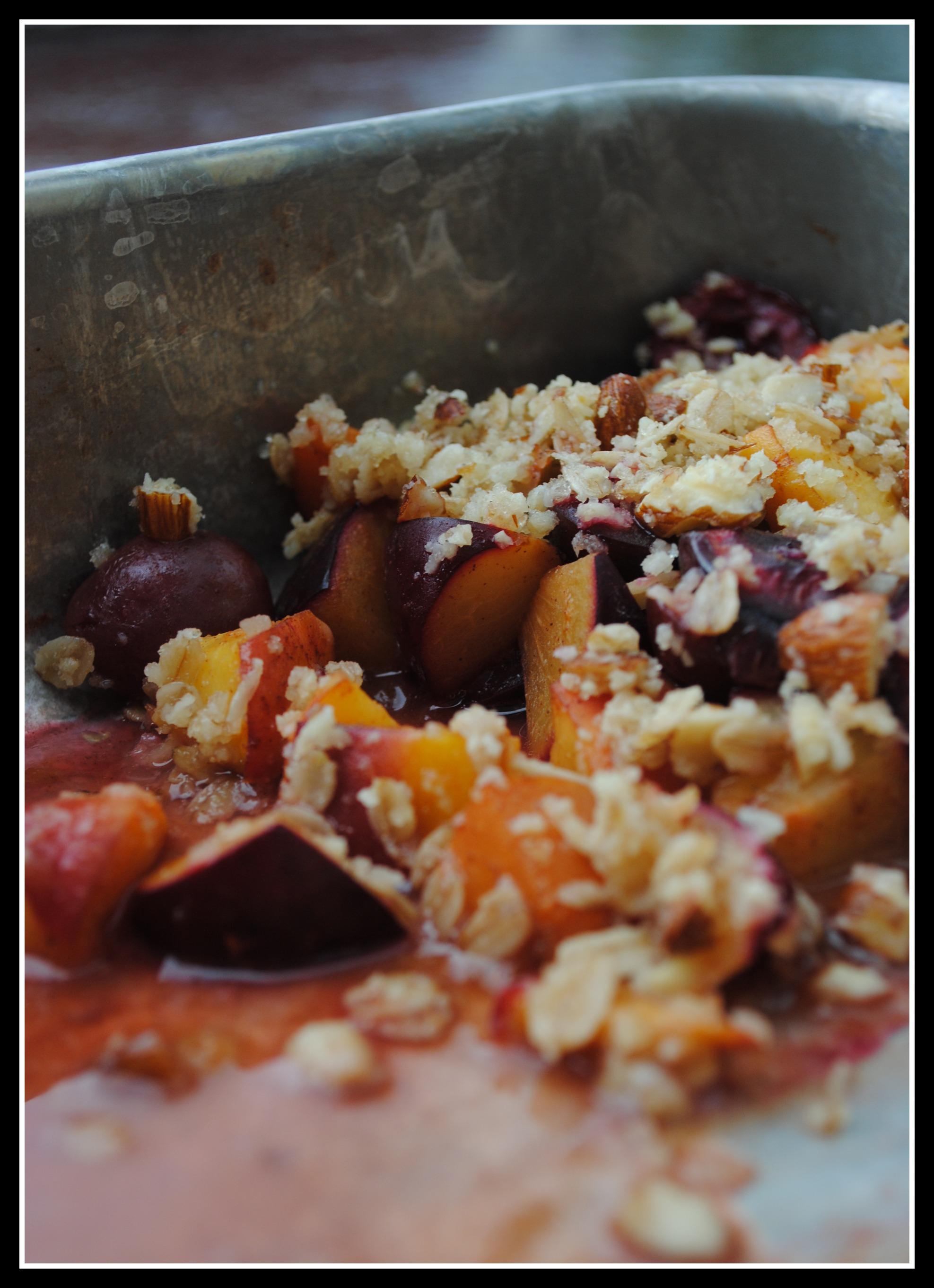 Stone Fruit Almond Breakfast Crisp