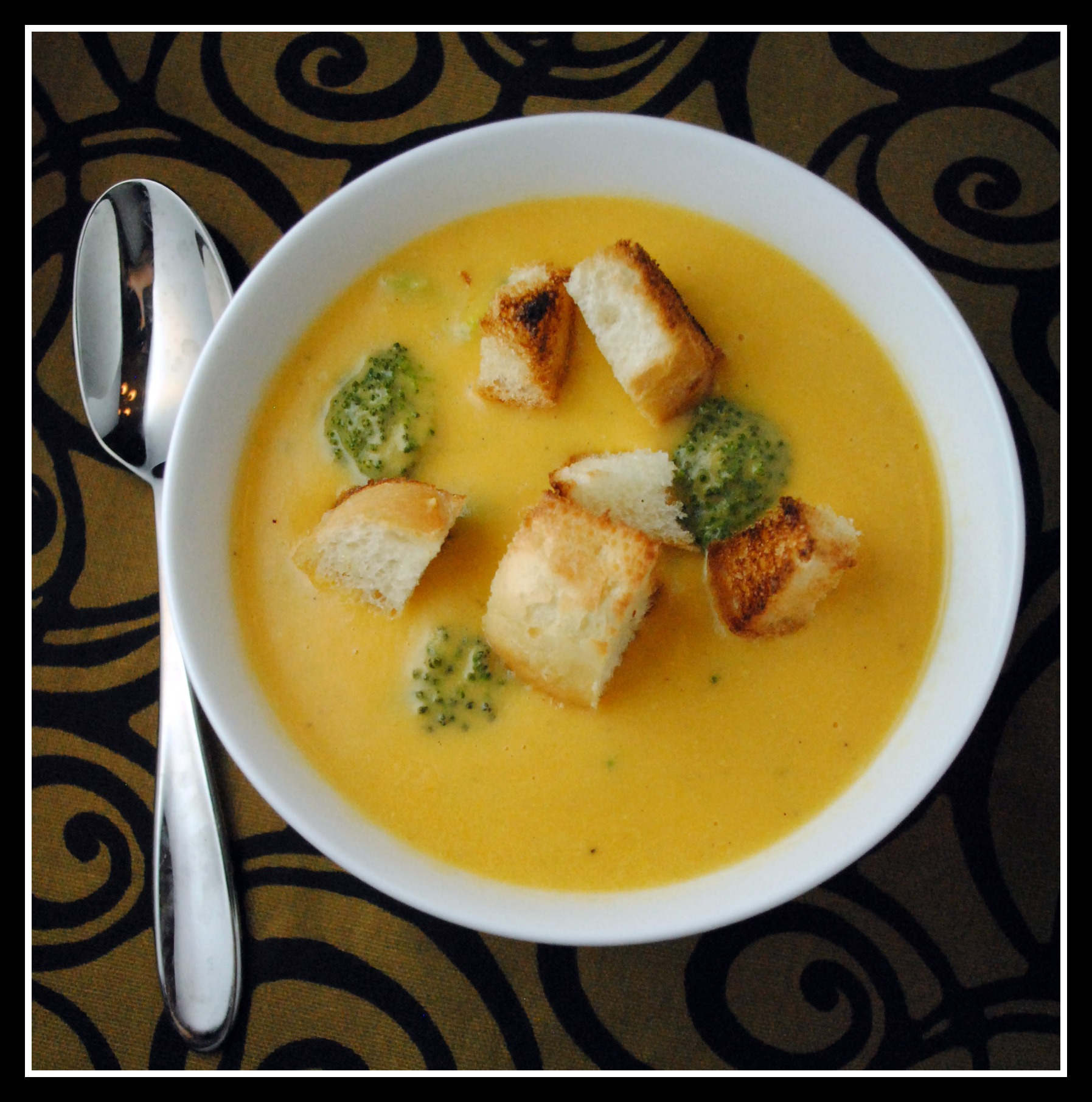 Broccoli-Cheddar Soup + Weekly Menu