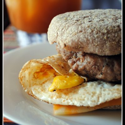 Lightened Up Sausage Egg and Cheese McMuffins