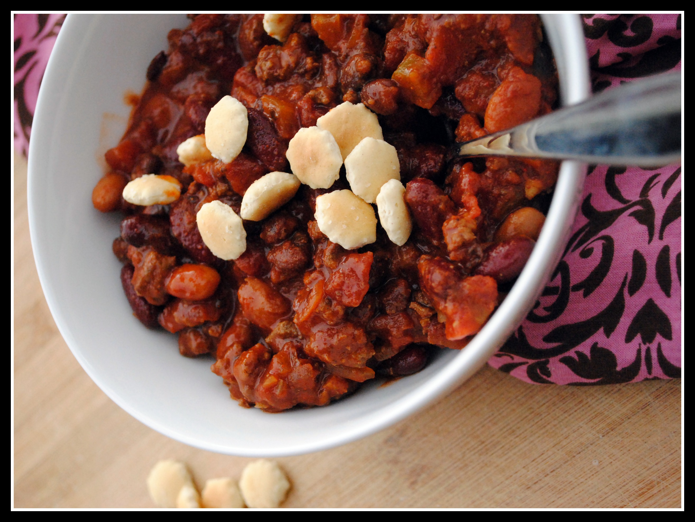 Chili Contest: Entry #4 – Three Bean and Beef Chili (Crock Pot)
