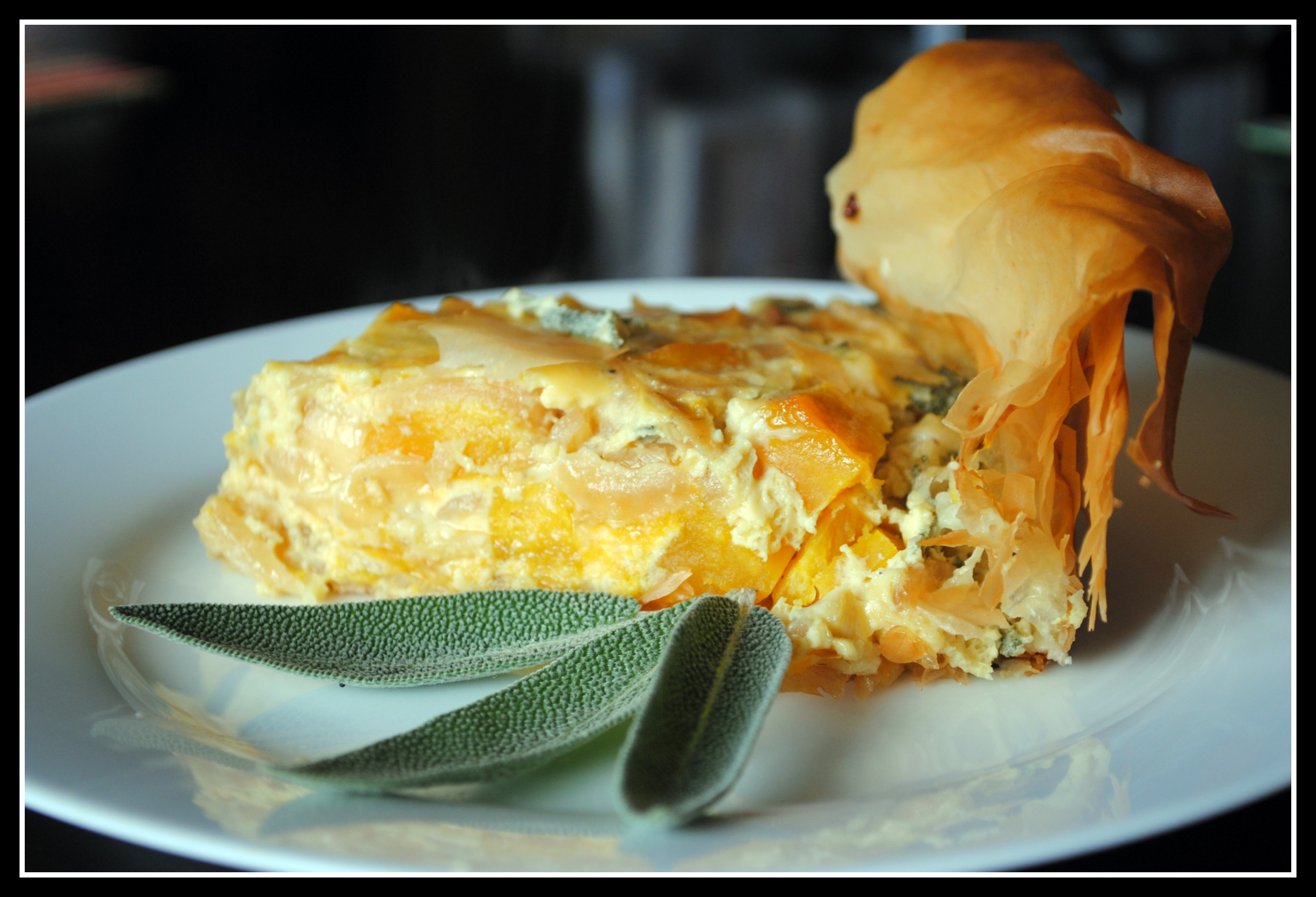 Roasted Winter Squash Quiche with Caramelized Onions, Gorgonzola, and ...