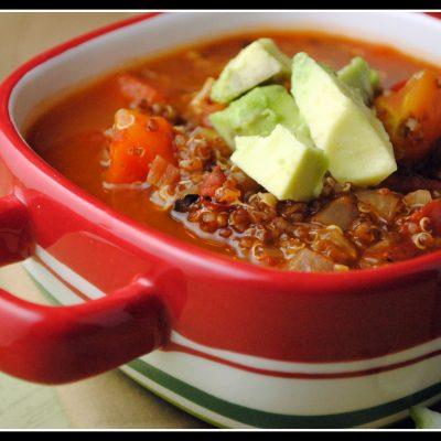 Meatless Monday: Quinoa Mexican Soup {vegan}
