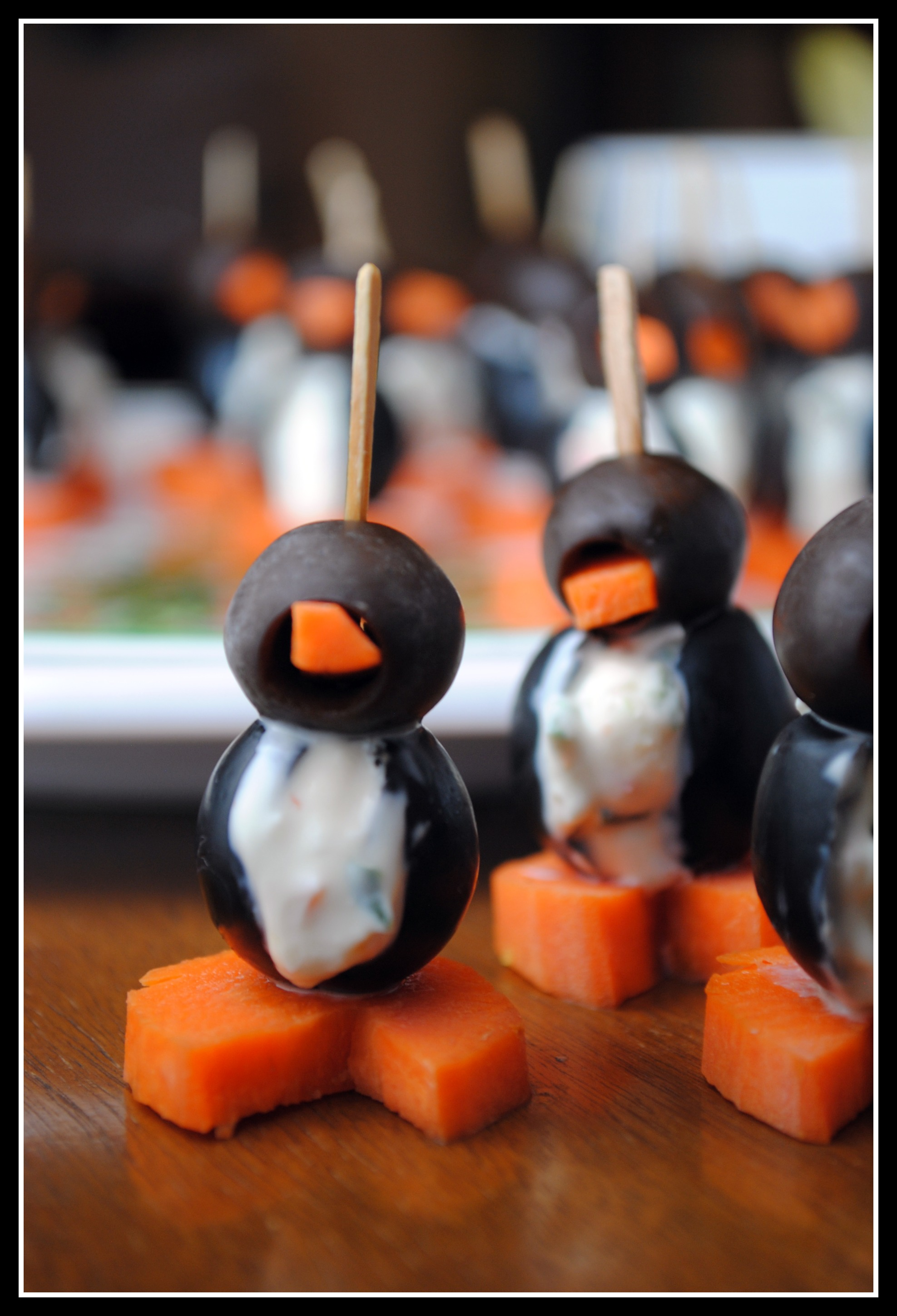 Two Quick & Easy Appetizers: Cream Cheese Penguins and Blue Cheese ...
