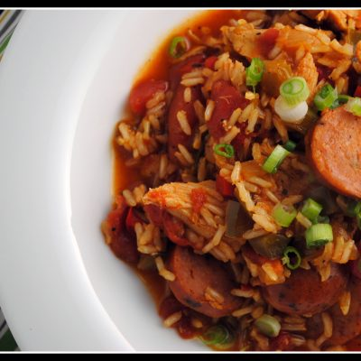 Turkey Jambalaya + Weekly Menu