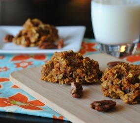 Mega Carrot Cake Breakfast Cookies {Vegan}