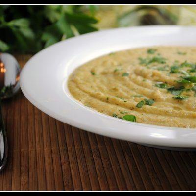 Creamy Roasted Cauliflower and Broccoli Soup