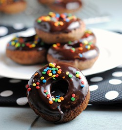 Chocolate Glazed Baked Chocolate Donuts (& a donut pan GIVEAWAY!) + Weekly Menu