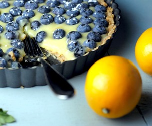 Meyer Lemon Blueberry Tart