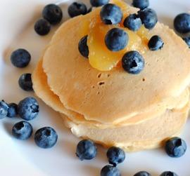 Meyer Lemon Ricotta Pancakes {Classy Protein Pancakes}