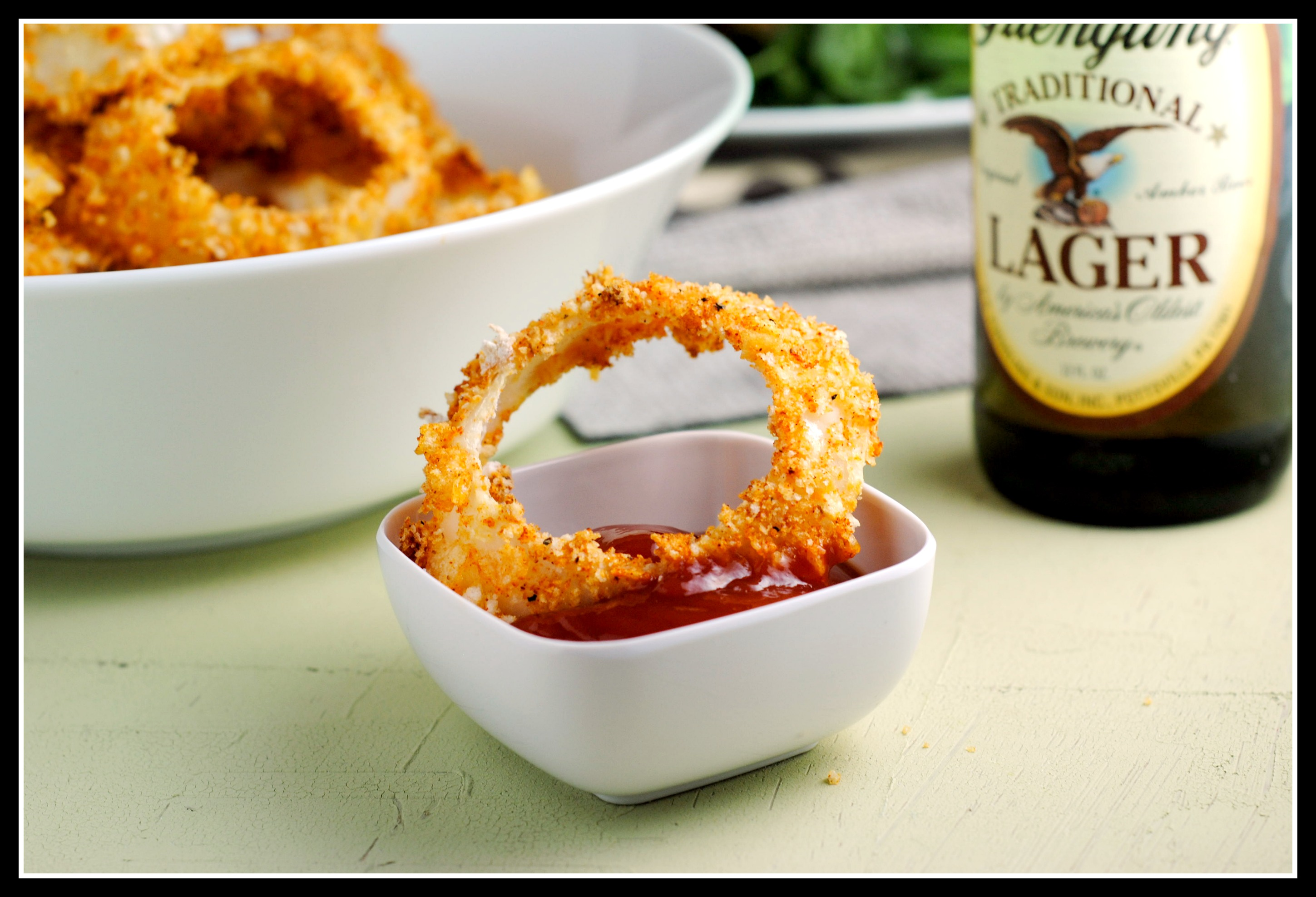 crunchy onion healthy rings