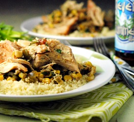 Slow Cooker Chicken with Corn and Poblanos