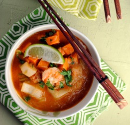 Rockin Red Curry Shrimp Soup
