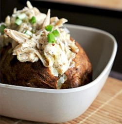 Chicken and White BBQ Potatoes
