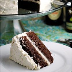 Dark Chocolate Guinness Cake with Bailey's Buttercream {Happy Birthday, Mom!}
