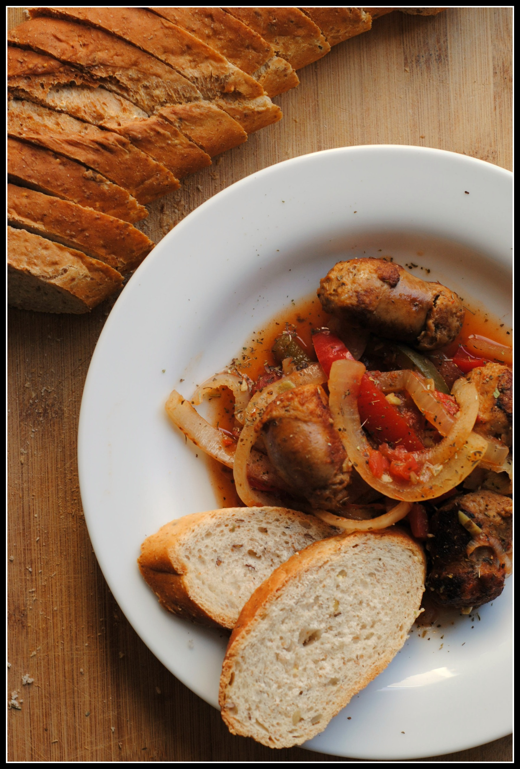 Crockpot Sausage, Peppers & Onions