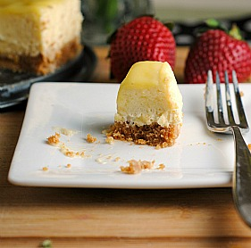 Reduced Fat Meyer Lemon Cheesecake