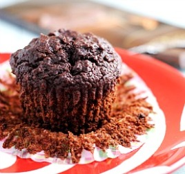 Vegan Double Dark Chocolate Muffins + Weekly Menu