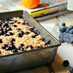 Meatless Monday: Meyer Lemon Blueberry Baked Oatmeal
