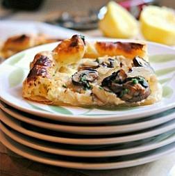 Mushroom & Feta Tart + Weekly Menu