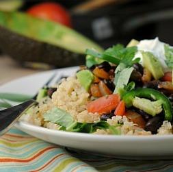 Meatless Monday: Quinoa Black Bean Burrito Bowls