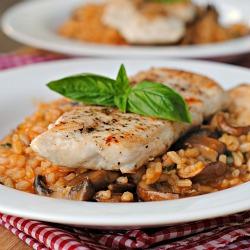 Chicken Marsala Risotto