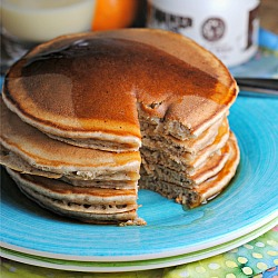 Whole Wheat Eggnog Pancakes