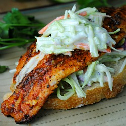 Open-Faced Catfish Sandwiches