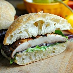 Meatless Monday: Balsamic and Pesto Goat Cheese Portobello Burgers