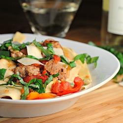 """Saucy Italian """"Drunken"""" Noodles + Weekly Menu"""