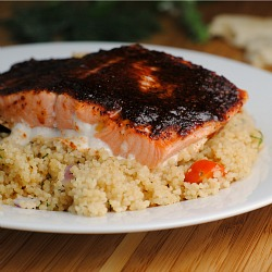 Maple Glazed Salmon with Tomato-Dill Couscous