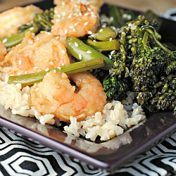Sesame-Orange Shrimp + Weekly Menu