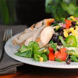 Southwest Chicken Salad with Avocado Buttermilk Dressing