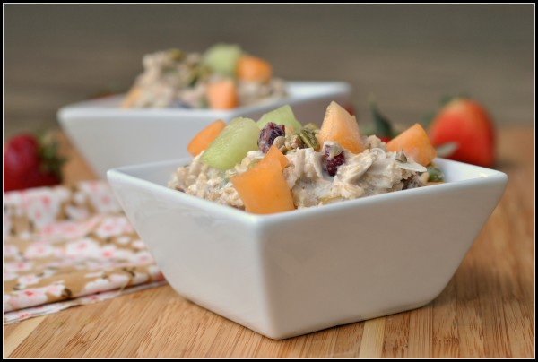 Coconut and Fruit Cold Oat Breakfast Salad