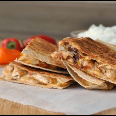Fajita Chicken and Vegetable Quesadillas
