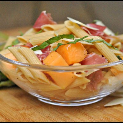 Melon and Prosciutto Pasta Salad + Weekly Menu