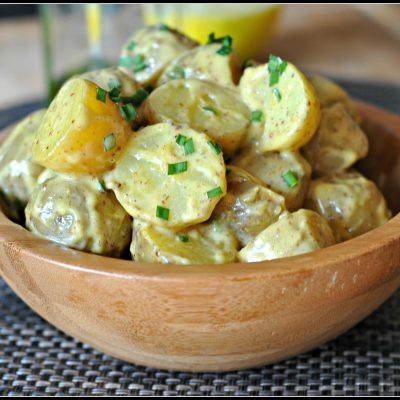 Baby Potato Salad + Weekly Menu