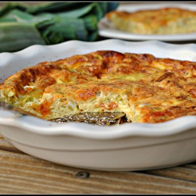 Meatless Monday: Leek and Cheddar Crustless Quiche