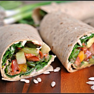 Meatless Monday: Crunchy Veggie Wraps