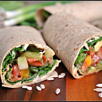 Meatless Monday: Crunchy Veggie Wraps