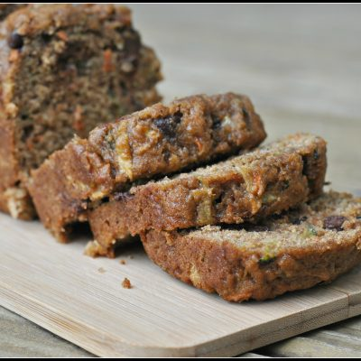 Zucchini, Carrot, and Apple Bread with Pecans and Chocolate Chips + Weekly Menu